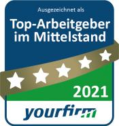 yourfirm Siegel Top Arbeitgeber 2021