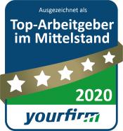 Yourfirm Siegel Top Arbeitgeber 2020